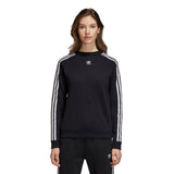 Adidas Women's Trefoil Sweatshirt - Black Front with model