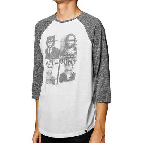 Altamont Locked Up Raglan - White/Grey