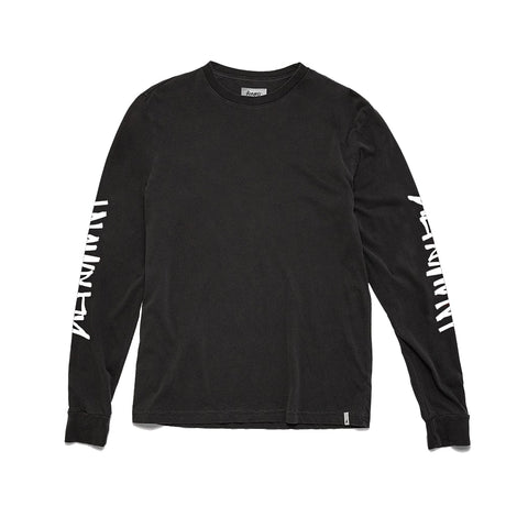 Altamont One Liner Sleeves L/S Tee - Black/White