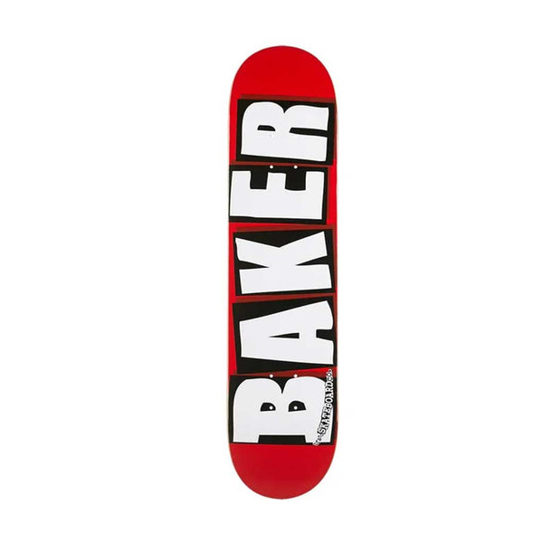 Baker Brand Logo Deck - White/Red/Black Bottom