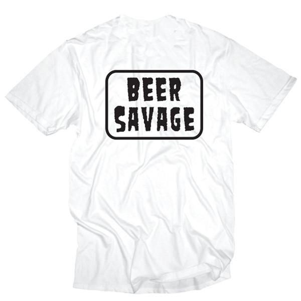 Beer Savage Patched S/S Tee - White