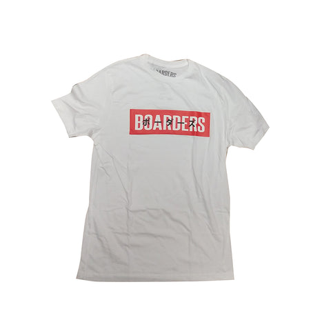 Boarders JPN Bold Red Box T-shirt - White Front