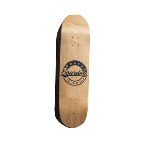 Boarders Star Crest Skateboard Deck - Natural Bottom