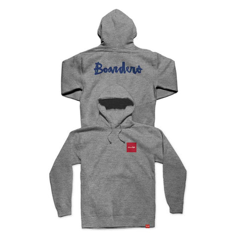Boarders x Chocolate Choc Square Hoodie - Heather Grey