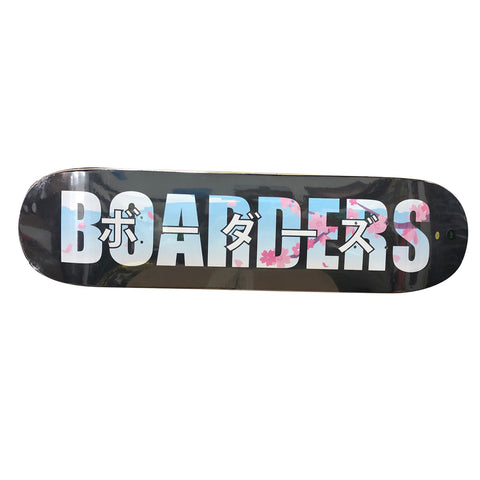 Boarders Bold Sakura Skateboard Deck - Black