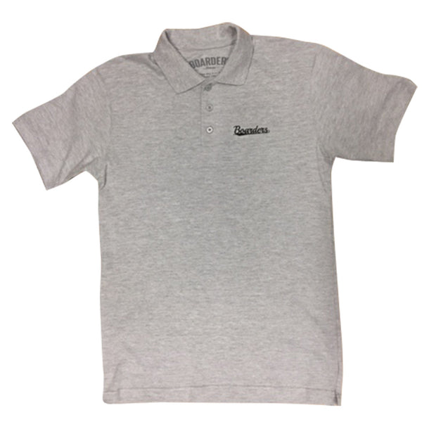 Boarders Script Polo Shirt - Heather
