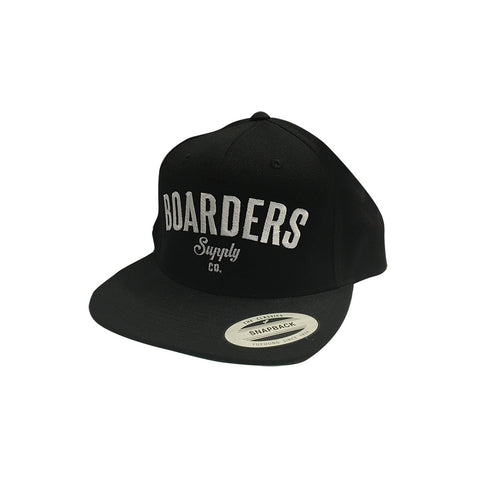 Boarders Supply CO Snapback - Black