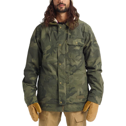Burton 19/20 Dunmore Jacket - Worn Camo Front with model