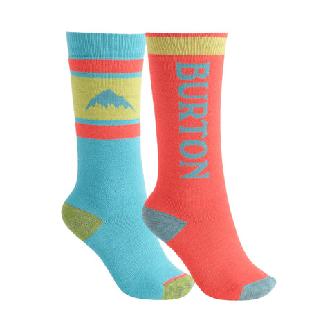 Burton 19/20 Kids Weekend Sock 2PK - Blue Curacao