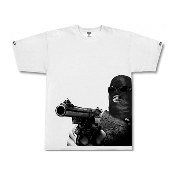 Crooks and Castles Knit Crew Stick Em Up T-Shirt  - White
