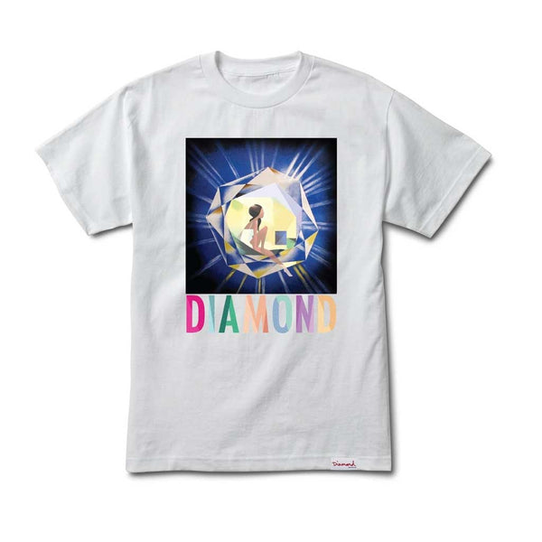 Diamond Diamond Gem Tee - White