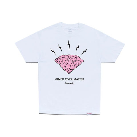 Diamond Headstrong T-shirt - White Front