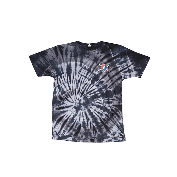 Fourstar Jerry Pirate Tie Dye Tee - Charcoal