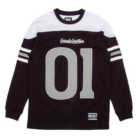 Grizzly 12th Man Football Top - Black