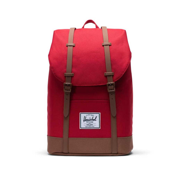 Herschel Retreat Backpack - Red/Saddle Brown Front