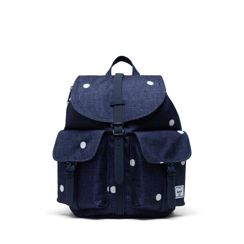 Herschel Dawson Small Backpack - Polka Dot Crosshatch Peacoat (Front)