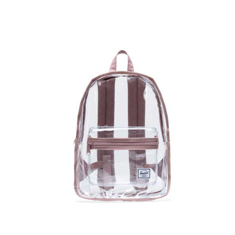 Herschel Classic Mid Clear Backpack - Ash Rose/Clear Front