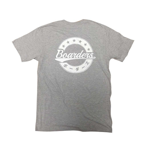 Boarders JPN Crest Tee - Heather Grey Back