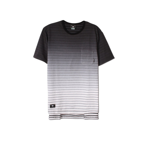 LRG Derby Knit Drop Tail Tee - Black