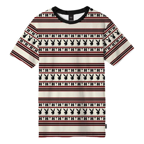 Huf x Playboy Stripe S/S Knit Top - Burgundy