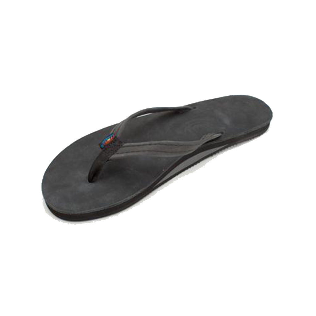 9be2e14e9d87 Rainbow Single Layer Premier Leather with Arch Support and a Narrow Strap -  Premier Black