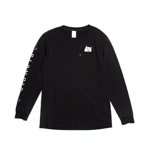 Rip N Dip Lord Nermal L/S Tee - Black