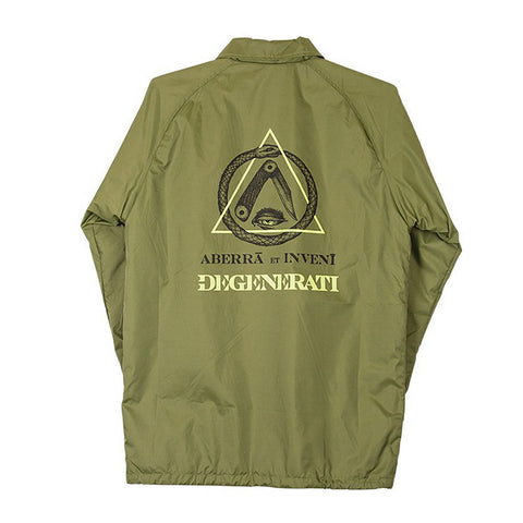 Rome Degenerati Coaches Jacket - Olive Back