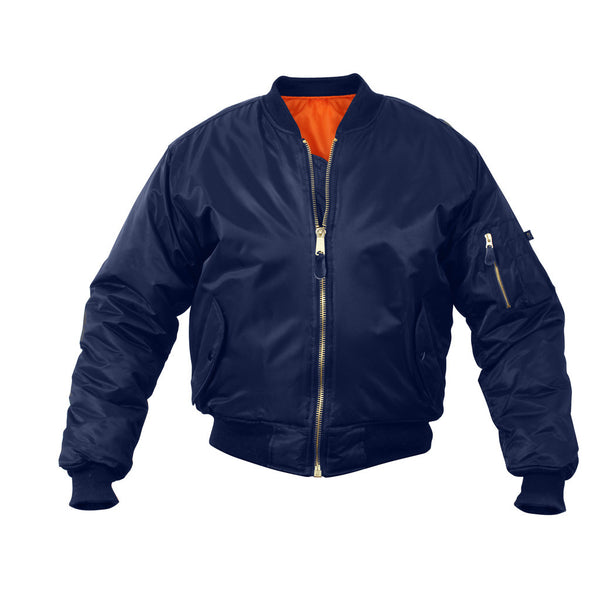 Rothco MA-1 Flight Jacket - Navy Blue