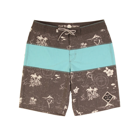 Salty Crew Chart Plotter Short - Black