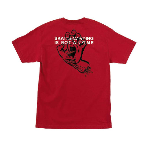 Santa Cruz Crime Hand SS Tee - Red