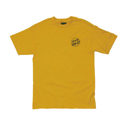 Santa Cruz Off Hando Dot SS Tee - Antique Gold Front
