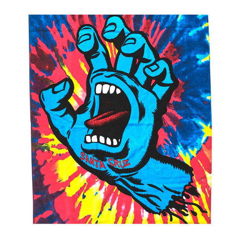 Santa Cruz Screaming Hand Towel - Pink Tie Dye