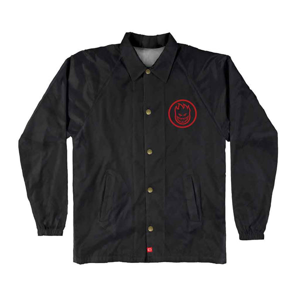Spitfire Youth Jacket Classic Swirl - Black/Red Front