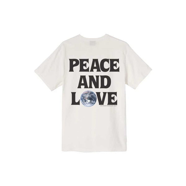 Stussy Women's Peace & Love Pig. Dyed Tee - Natural