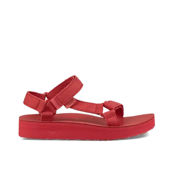 Teva Women's Midform Universal Leather - Racing Red Outer Side
