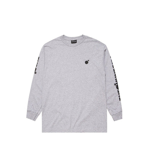 The Hundreds Forever Solid Bomb Crest L/S Tee - Heather
