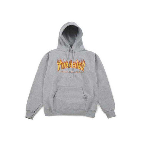 Thrasher Flame Hood - Grey