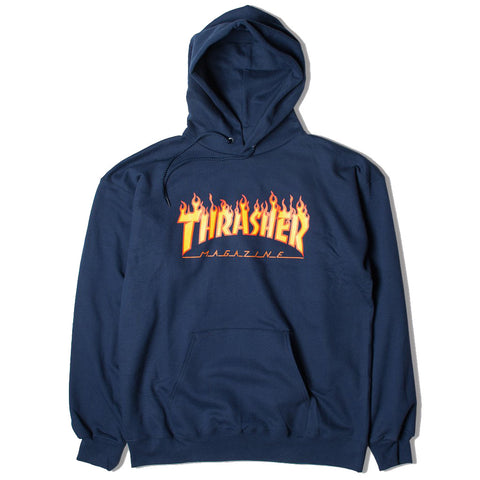 Thrasher Flame Hood - Navy