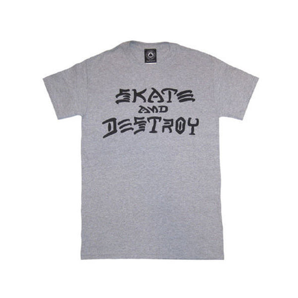 Thrasher Skate and Destroy Tee - Heather