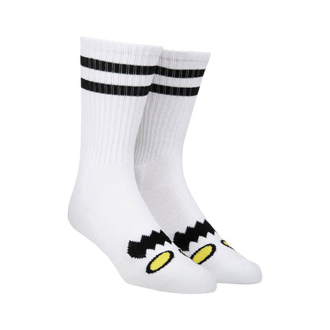 Toy Machine Monster Face Sock - White