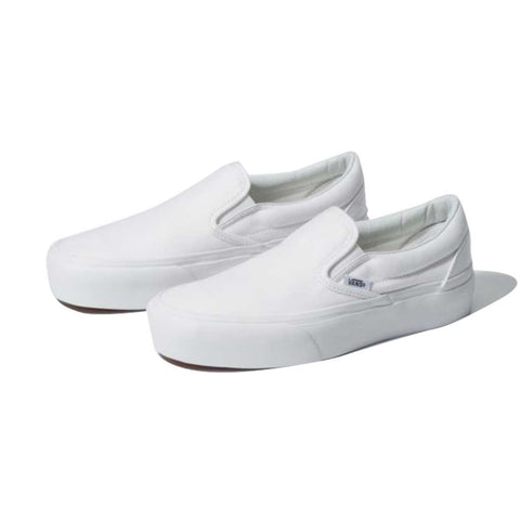 Vans Women's Classic Slip on Platform -True White