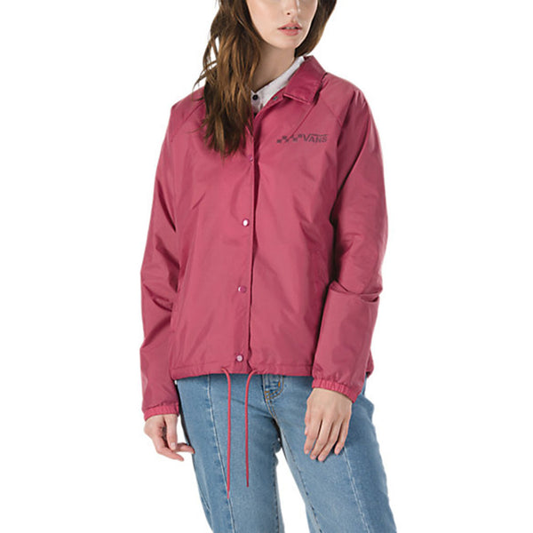 Vans Women's Thanks Coach Jacket - Dry Rose Front