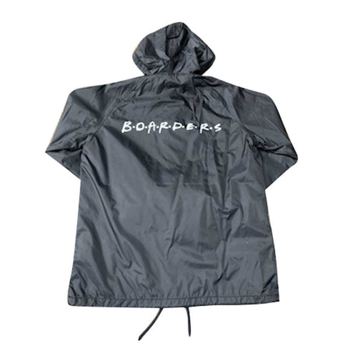 Boarders The Cast Coaches Jacket with Nylon Hoodie - Black Back