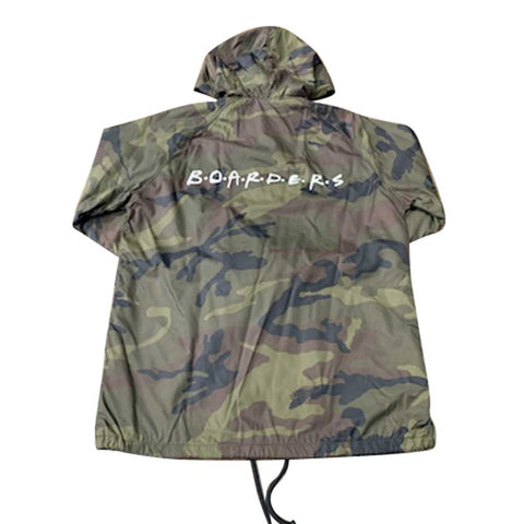Boarders The Cast Coaches Jacket with Nylon Hoodie - Camo Back