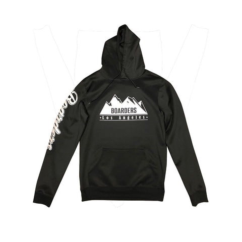 Boarders Mountain Tech Hoodie - Black Back