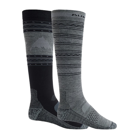 Burton 18/19 Performance Lightweight Snowboard Sock 2 Pack - True Black