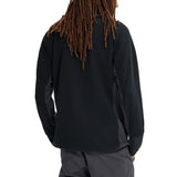 Burton 18/19 Minturn Full Zip Jacket - True Black Heather Back with model
