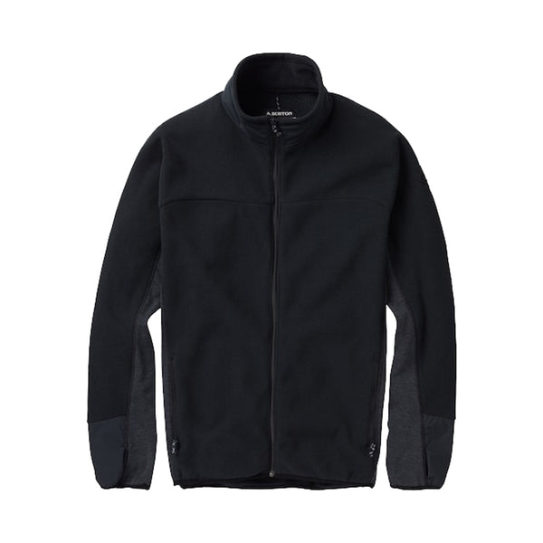 Burton 18/19 Minturn Full Zip Jacket - True Black Heather Front