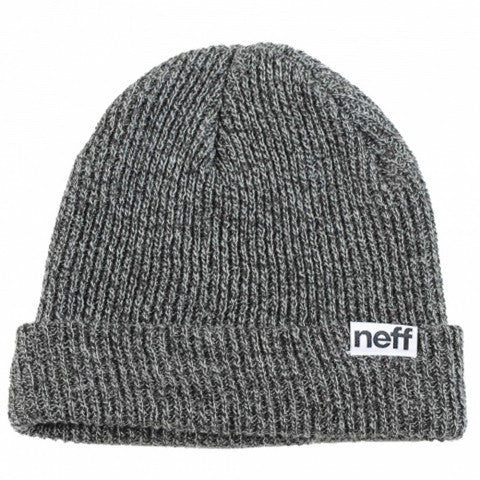 Neff Fold Heather Beanie - Black/White
