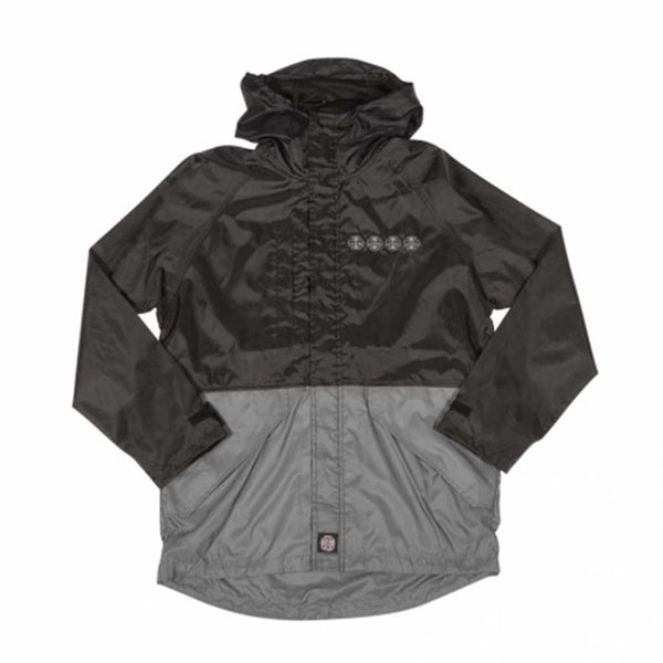 Independent Breaker All Weather Hooded Jacket - Black/Dark Grey